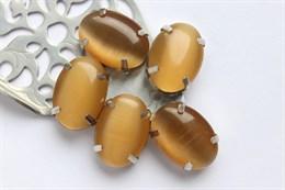 Шелковый кристалл 18*13 мм, Жженная Карамель