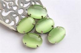 Шелковый кристалл 18*13 мм, Зеленый Чай