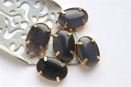 Шелковый кристалл 18*13 мм, Черный Янтарь