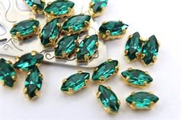 #4200 Navette 8*4 мм Emerald