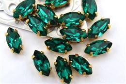 #4200 Navette 10*5 мм Emerald
