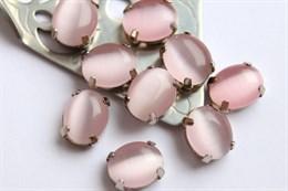 Шелковый кристалл 10*8 мм, Розовая пудра