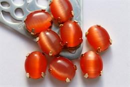 Шелковый кристалл 10*8 мм, Тигрово-рыжий