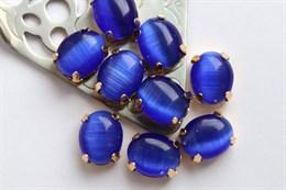 Шелковый кристалл 10*8 мм, Синяя мантия