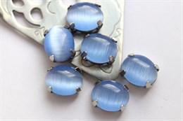 Шелковый кристалл 10*8 мм, Детский голубой