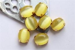Шелковый кристалл 10*8 мм, Лимонный щербет